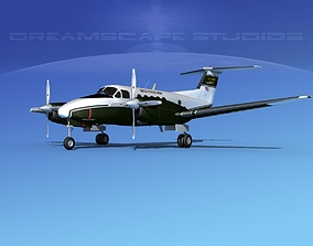 Beechcraft UC-12Q Huron V09 US Army 3D model