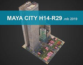 3D asset City District H14-R29 MAYA