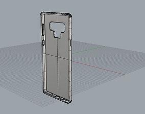 Samsung Galaxy note9 blue case 3D printable model