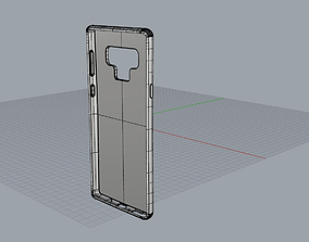 Samsung Galaxy note9 blue case 3D printable model