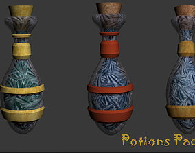 3D asset Potions Pack Fantasy Game-Ready