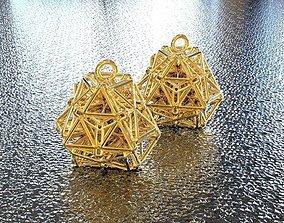 3D printable model BRO WOVE TETRAHEDRON EARRING