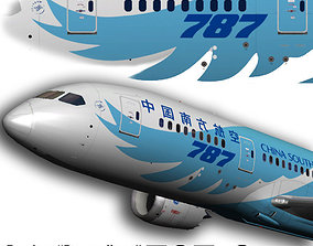 Boeing 787-8 China Southern 3D model animated