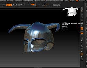 viking helmet-3d print model crusader