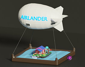 Airlander balloon airship with flying guest house 3D model