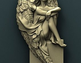 Angel 3d stl model for cnc other