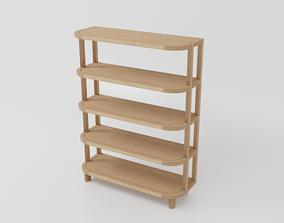 Jardan - Preston Bookshelf - PR140 - Oak Finish 3D