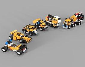 Lego cars pack 3D model