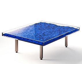 3D Table Klein Blue by Yves Klein