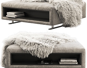 BoConcept Hampton footstool with storage 3D