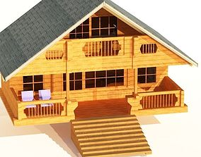 3D asset Chalet - Mountain House - Low Poly