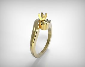Jewelry Golden Round Top Ring 3D printable model