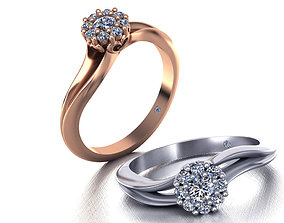 3D printable model Paradise Engagement ring Own design 1