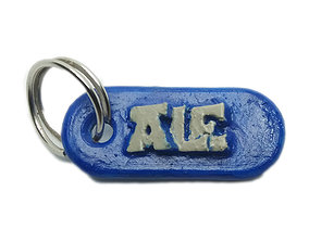 ALE Personalized keychain embossed 3D printable model