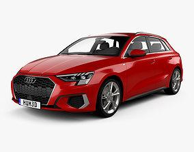 3D model Audi A3 S-line sportback 2020