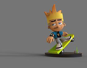 sport Cartoon Skate Boy 3D Print and High Poly Model
