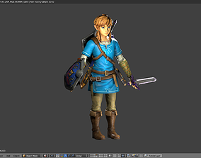 LINK - BREATH OF THE WILD - RIGGED - PBR - GABOKAR 3D