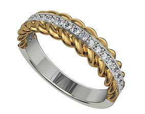 Jewelry Women Band Torsade Ring Model-CC79
