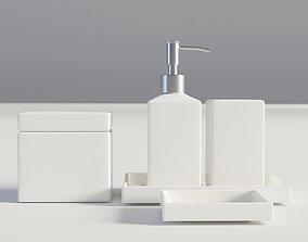 3D Bathroom Set White 1
