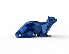 low poly kitty 4 3D printable model