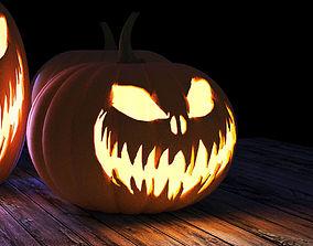 Halloween pumpkin 3D model jack