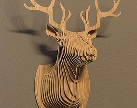 Deer head cnc 3D model
