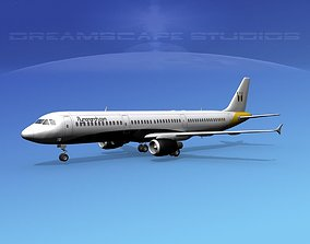 Airbus A321 Monarch 3D