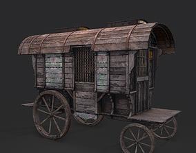 3D asset Medieval Wagon