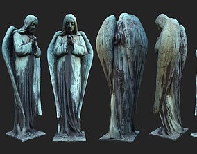 Old Angel Statue PBR 3D asset