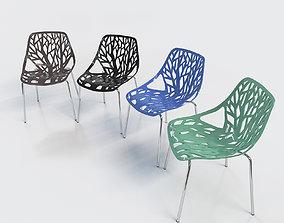 Bonnlo Modern Stackable Chair modway 3D