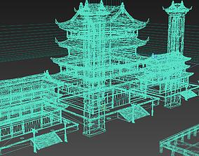 3D asset Large ancient architectural palace complex
