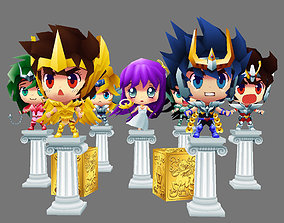 Bronze Saints and Athena 3D asset