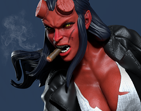 Hellgirl Model1 3d Print