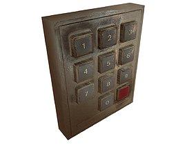 3D asset Keypad lock device