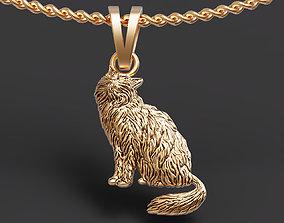 Persian cat pendant 3D printable model