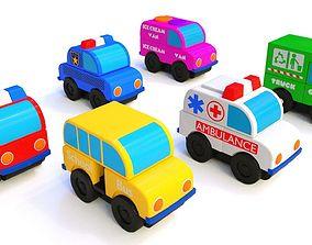 3D car vehicles lowpoly car cartoon