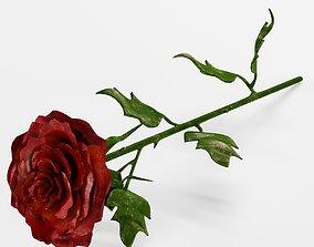3D Rose metal
