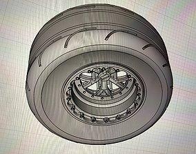 Weld Wheels Radial Tire Beadlock Combo 3D printable model