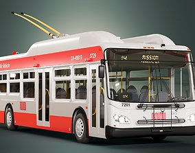 3D San Francisco Trolleybus Short SFMTA