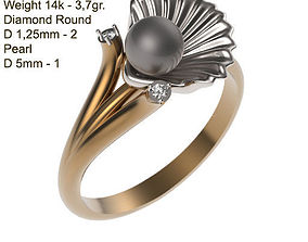 Ring MR-2 Woman Jewelery STL 3d print
