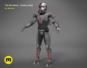 The Bad Batch Hunter armor 3D printable model