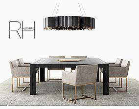 3D RH Emery track modern dining set - Tom Kirk 2