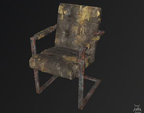 3D model The Post-apocalyptic modern chair