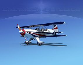 Acro Sport II Biplane 3D rigged
