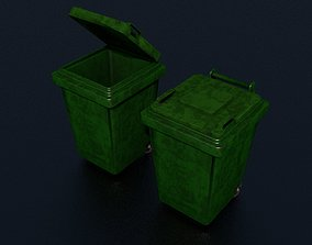Trash Can Garbage - LOW POLY - PBR - GAME READY 3D model