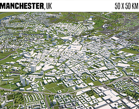 geography Manchester UK 3D model