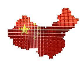 China Map Cube Style v1 002 3D model