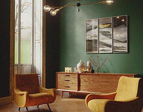Living room 3d scene