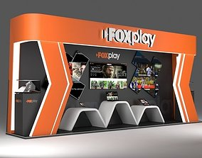 exhibition stand for fox cable service 3D model
