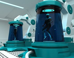 3D Futuristic Medical Chamber